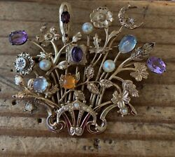 Custom Made One-of-a-kind Pin With Vintage Stick Pins