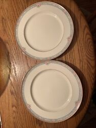 New 2 Mikasa Fine Ivory La Rose Pattern Lac75 Japan Replacement Dinner Plates