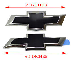 84337320 Front and Rear Bowtie Emblems in Black 2016 2018 Chevrolet Malibu