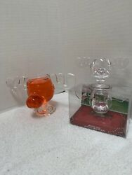National Lampoon Christmas Vacation Movie Griswold Moose Shot Glass Set 2