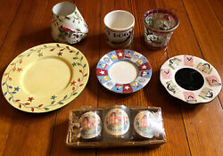 Lot Of 7 Vintage/contemporary Yankee Candle Pieces—candle Plates, Lampshades Etc