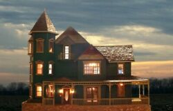 Wooden Doll House, Craftsman Built, 13 Rooms And Fully Furnished