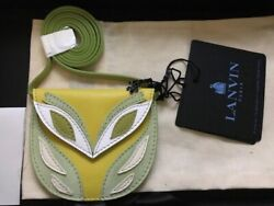 Lanvin Pale Yellow And Pale Green Small Mask Bag Runway Sold Out Rare Authentic