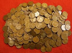 1920-29 P Mint Only Lincoln Wheat Cent Penny 250 Coin 5 Rolls Mixed Dates