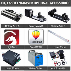 Co2 Laser Engraver Accessories - Rotary Axis Laser Tube Power Autofocus Chiller