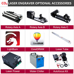 Co2 Laser Engraver Accessories - Chiller Autofocus Laser Tube Power Rotary Axis
