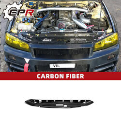 For Nissan Skyline R34 Gtr Gage-style Radiator Cover Carbon Cooling Slam Panel