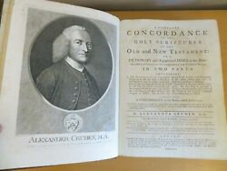 1794 Cruden Concordance Holy Scriptures Old And New Testament Dictionary To Bible