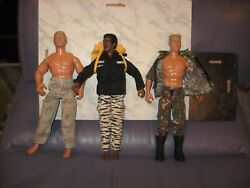 Vtg. Early 19990s 12 Inch Gi Joe Action Figures Army Black - Blond - Muscles 3