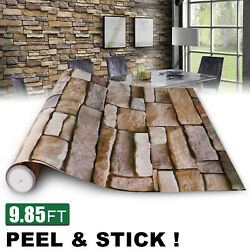 3D Stone Wallpaper Rock Self Adhesive Contact Paper Peel and Stick Backsplash US
