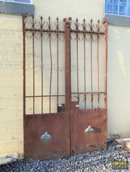 Egyptian Old World Iron Gate Set 58w X 96h Acanthus Ornament