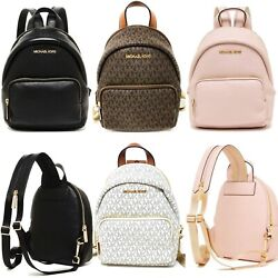 Michael Kors Erin Small Convertible Backpack Fannypack Crossbody MK Leather $159.00