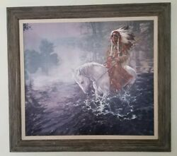 Anthony Sinclair Oil Painting Native American Chief Western Art 1989 Signed