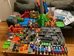 Missive Lot Of Thomas And Friends Trackmaster Gray Trains And Tracks Over 300 Pc