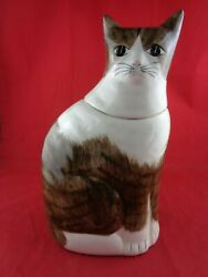 Los Angeles Pottery Usa Large Cat Cookie Jar 43 - 13.75 Tall