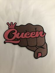 Alpha Kappa Alpha Aka Queen Power Fist Style Patch 4 1/2 Inch Iron On