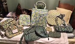 VERA BRADLEY Lot 10 Backpack Totes Crossbody Wallets Lunch Bags YELLOW GREEN $69.95
