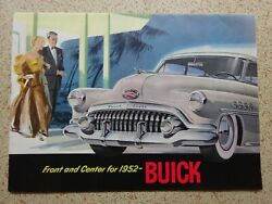 Buick For 1952 - Original Car Sales Brochure From The Usa - Rare - See Photos.