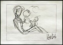Tim Burtons Corpse Bride Stop Motion Animation Victor And Scraps Orig Storyboard