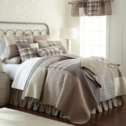 Donna Sharp Smoky Square Patchwork Traditional Rustic Quilt Collection