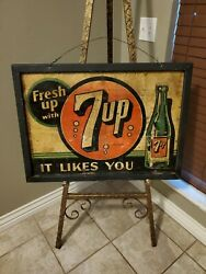 Extremely Rare Original 7 Up Advertising Sign 8 Bubbles