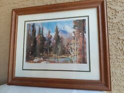 Howard Carr Limited Edition Signed Print. Framed And Matted. 3032/3400.