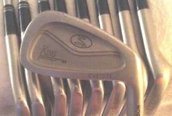 Greg Norman King Cobra Oversized Irons 2-pw Rh 6.0 1/2 Inch Over Steel Shafts