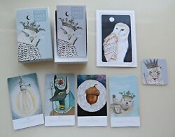 White Sage Tarot Full Size Oop Self-published Deck W/ Owl Print Signed By Author