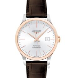 Longines Record L28215722 Silver Dial Menand039s Watch Genuine Freesandh