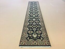 2andrsquo.6andrdquo X 14andrsquo Black Red Fine Floral All-over Oriental Rug Runner Wool Hand Knotted