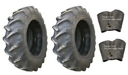 2 New Tires And 2 Tubes 14.9 28 Harvest King R1 Tractor Rear 8 Ply Tt 14.9x28 Fs