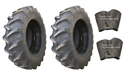 2 New Tires And 2 Tubes 20.8 38 Harvest King R1 Tractor Rear 8 Ply Tt 20.8x38 Fs