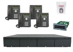 Avaya Ip Office 500 V2 Ipo500 9.0 4 Line Phone System 4 New 9504 Essential Combo