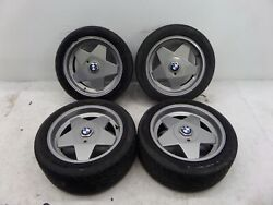 Bmw Borbet Type A 17 Wheels E30 M3 E34 E39 5 Series E28 E21 Oem Et13 Damaged