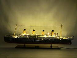 Rms Britannic White Star Ocean Liner With Lights Museum Quality Model 40″