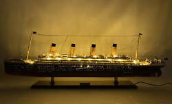 Rms Olympic White Star Ocean Liner With Lights Museum Quality Model 40″