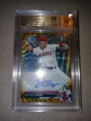 2017 Bowman Chrome Griffin Canning Gold Wave Refractor Auto /50 Pristine Bgs 10
