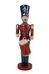 Large Toy Soldier Drummer Life Size Statue