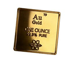 Gold Metal .999 1 Oz Troy Ounce Bar For Bullion Or Element Collection