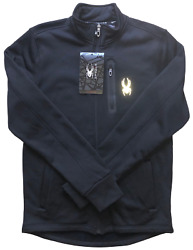 Spyder Full Zip Jacket Menand039s Medium Black New With Tags - Free Shipping