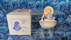 Hummel Goebel 36/0 Child With Flowers Holy Water Font 1987 Signed With Box