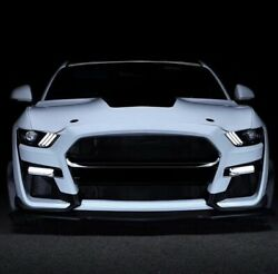 15-17 Ford Mustang Gt500 Style Front Bumper Kit Replacement - Pp Plastics