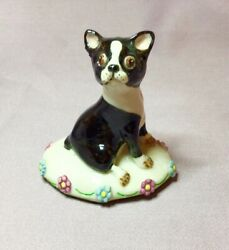 VINTAGE BASIL MATTHEWS BOSTON TERRIER SIGNED
