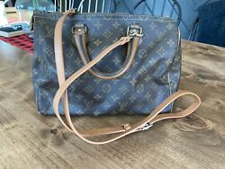 Authentic Louis Vuitton French Company Speedy 30 Bag Brown Monogram Crossbody $300.00