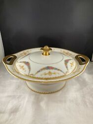 Covered Serving Bowl Dish, Theodore Haviland China, Limoges France, H14 Pattern