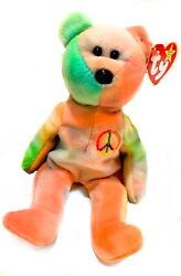 Ty Beanie Baby Peace Bear Original Collectible All Tag Errors Mint Very Rare