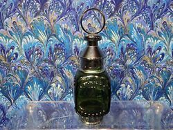 Avon Lamp Decanter. Green Whale Oil Lantern 1/16 Full Great Condition