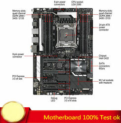 For Asus Ws C422 Pro/se Motherboard Support W-2145 Ddr4 128gb 100 Test Work