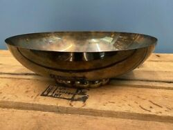Vintage Poole Silver Co. Silver Plate Oval Footed Console Bowl