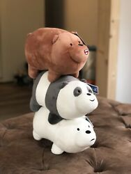 We Bare Bears Plush Toy Three Bare Bears Stuffed Toy Kids Gift 3pcs Set 28cm